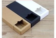 Luxury black kraft paper sliding box, cardboard drawer box, CD sleeve Black slide box Custom gift box