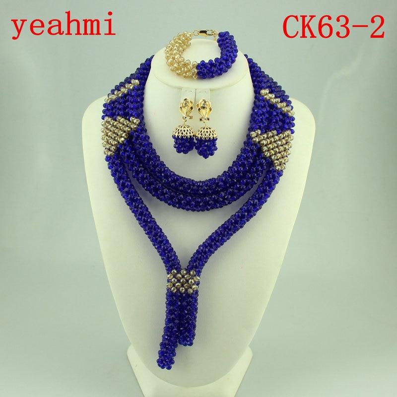 Marvelous Bridal Jewelry Set Nigerian Wedding African Beads Jewelry Set Red Wedding Balls Necklace Set Free Shipping CK63-1