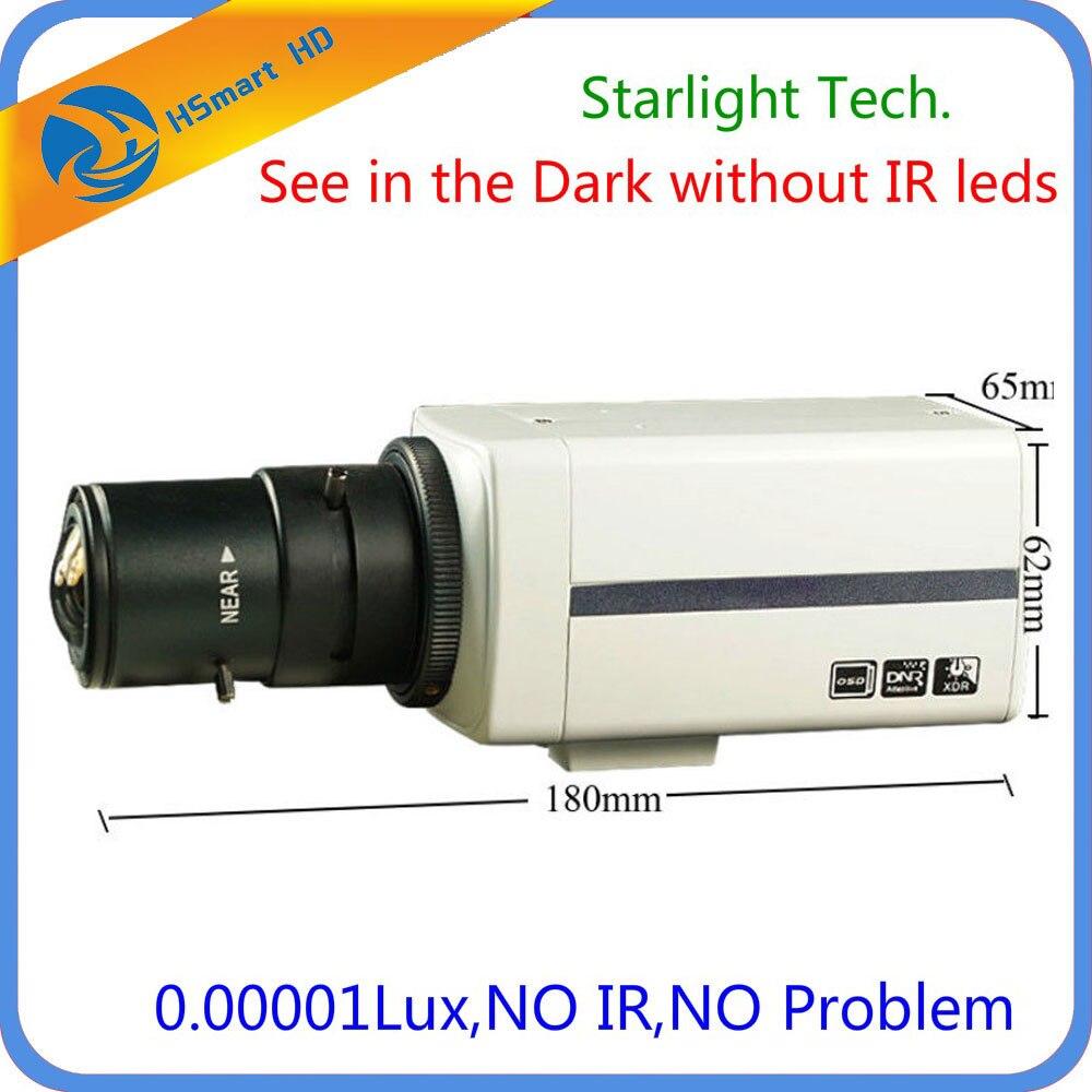 CCD Sony Super HAD 700TVL 9-22mm DSP EFFIO-E superbajo luz Starlight cámara de caja con 2,8-12-12mm lente CS 0,00001 lux