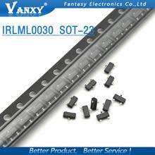 100 Uds IRLML0030TRPBF SOT23 IRLML0030TR SOT-23 IRLML0030 nuevo MOS transistor FET