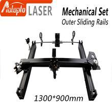 Pièces mécaniques ensemble 1300*900mm glissières extérieures Kits pièces de rechange pour bricolage 1390 CO2 Laser gravure Machine de découpe