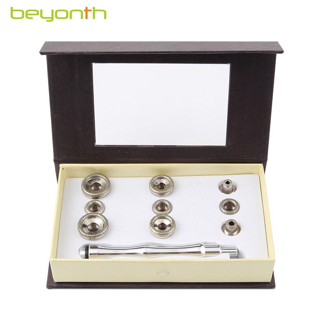 Accesorio de dermoabrasión de diamantes BEYONTH, puntas de diamante, varillas de algodón, microdermoabrasión, filtro de piel, herramienta de cuidado Facial, 9 puntas + 1 varita