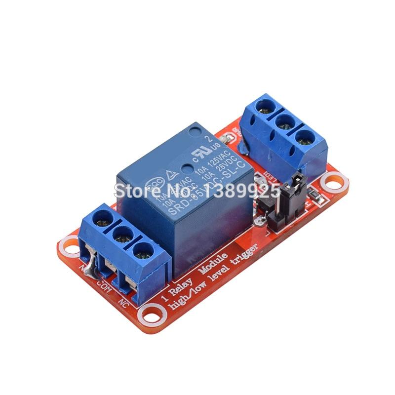 5 шт. один 1 канал 5 В релейный модуль щит с опора для оптопары высокого и низкого уровня триггера для Arduino