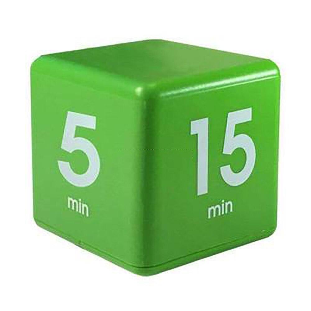 Color caramelo cubo cocina temporizador 5 15 30 y 60 minutos para la gestión del tiempo los niños reloj de alarma de temporizador de repetición de recordatorio
