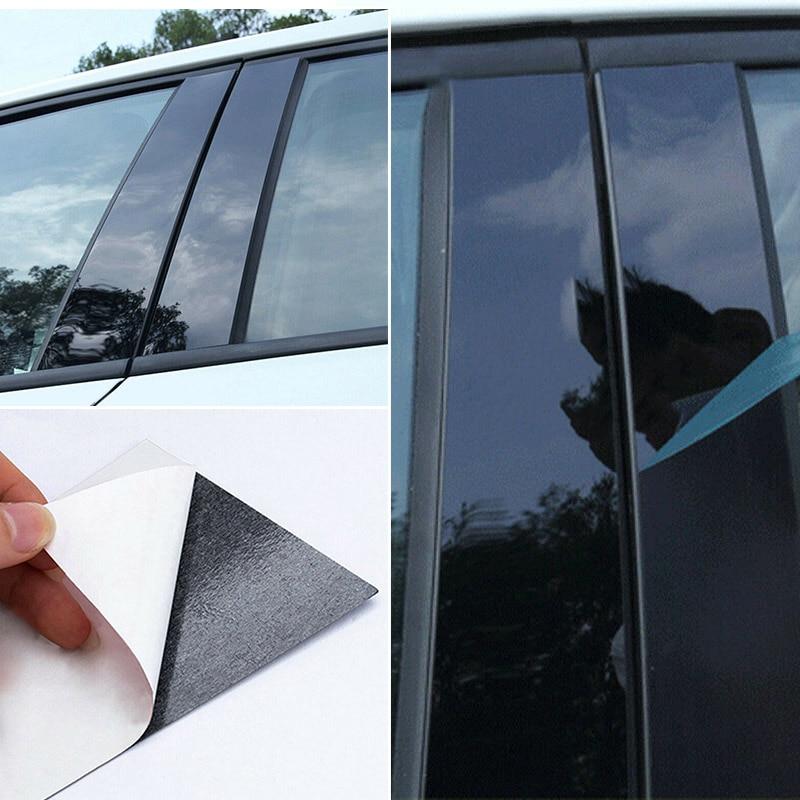 8pcs Auto Parts Car Window Trim Strips Cover Accessories For Mazda 3 2006 2012 high quality Black PC Plastic Window Trim Strips