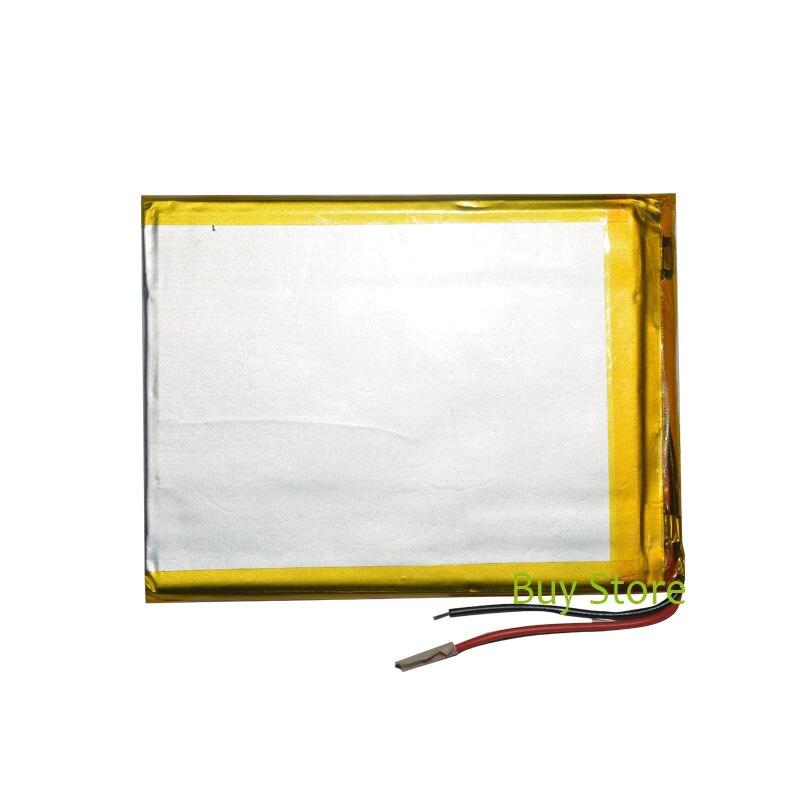 3500 mAh 3.7 V de iões de lítio polímero Bateria 2 Fio Tablet Substituição Bateria para Datawind Vidyatab Punjabi 7 polegada Tablet