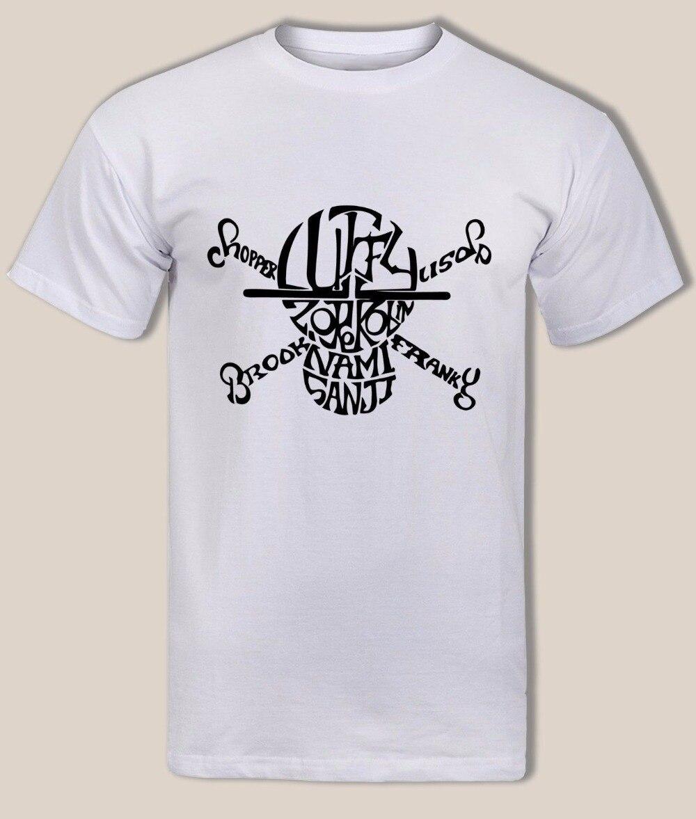 One Piece Sanji Luffy Zero Nami Usopp Frankie Chopper Robin Pirate Logo 2019 New Fashion Short Sleeve Print Cool T Shirts