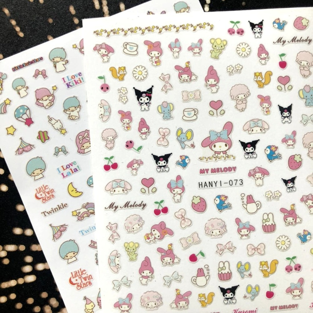 Newest 3d nail art sticker SOLONAIL hanyi-73 little rabbit pink decals nail  tools nail decoration nail art decal tools