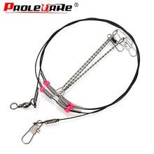 Plates-formes de pêche profonctionnelles en acier inoxydable fil Leader ligne de corde crochets à cordes pivotantes support déquilibre accessoires de matériel de pêche