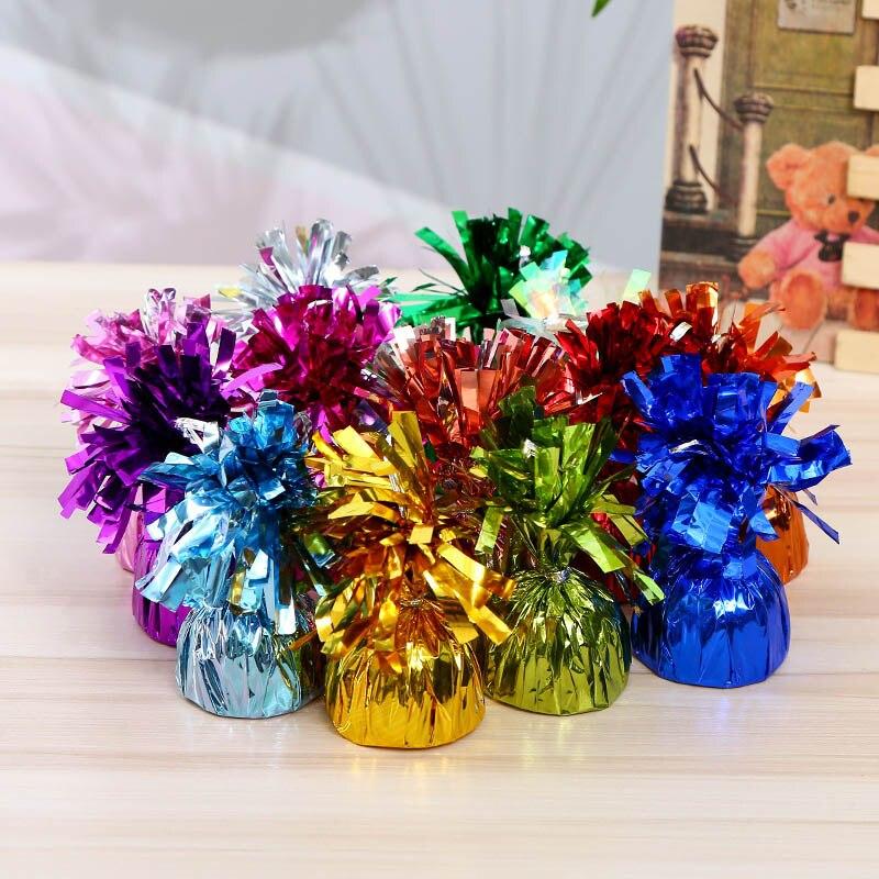 Décoration de center de Table à 13 couleurs   Petits accessoires mignons de la saint-valentin, pendentif de baptême, ballon en aluminium, poids, bloc de gravité