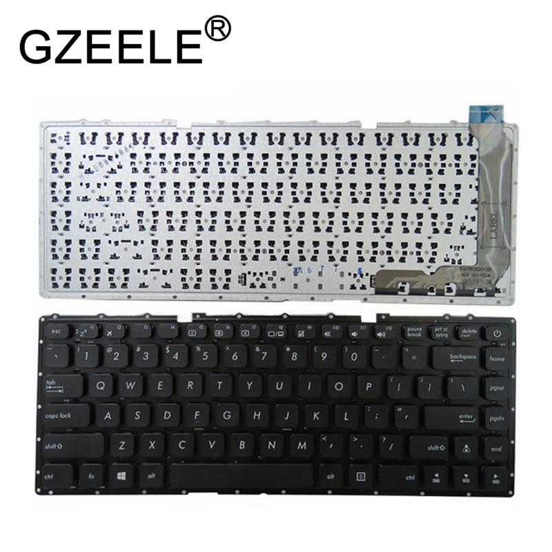 GZEELE nuevo para Asus VivoBook X441 X441S X441SA X441SC X441N X441NA A441NA A441SA A441SC F441NA F441SA nos teclado negro inglés