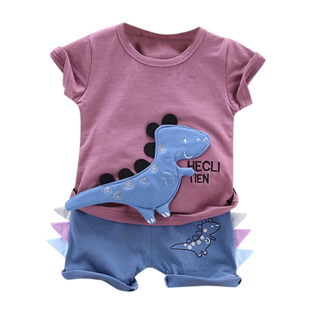 Летняя новая модная футболка с принтом в виде динозавра для маленьких мальчиков, комплект одежды из топа и шорт, оптовая продажа, Бесплатная доставка, Z4