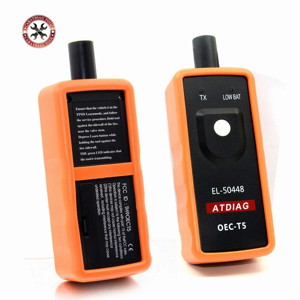 ¡OFERTA 2019! Monitor de presión de neumáticos para automóvil herramienta de activación TPMS EL 50448 OEC-T5 para vehículos equipados con 315 o 433 MHz