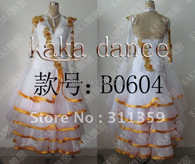 Free shipping 100% New Competition ballroom Standard dance dress,dance clothing,stage wear,ballom dance wear-B0604