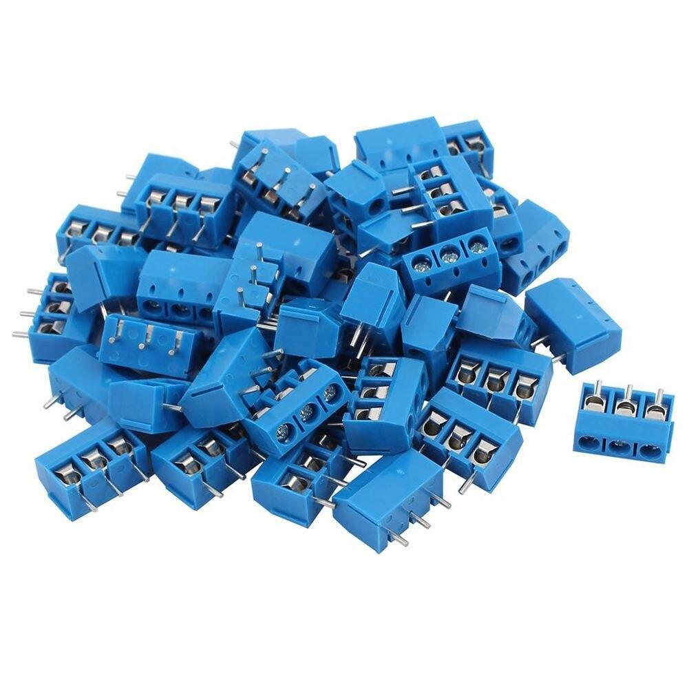 Neue 50 Pcs blau ABS KF301-2 P 5,08mm 2 Pin Verbinden Terminal Schraube Terminal Stecker