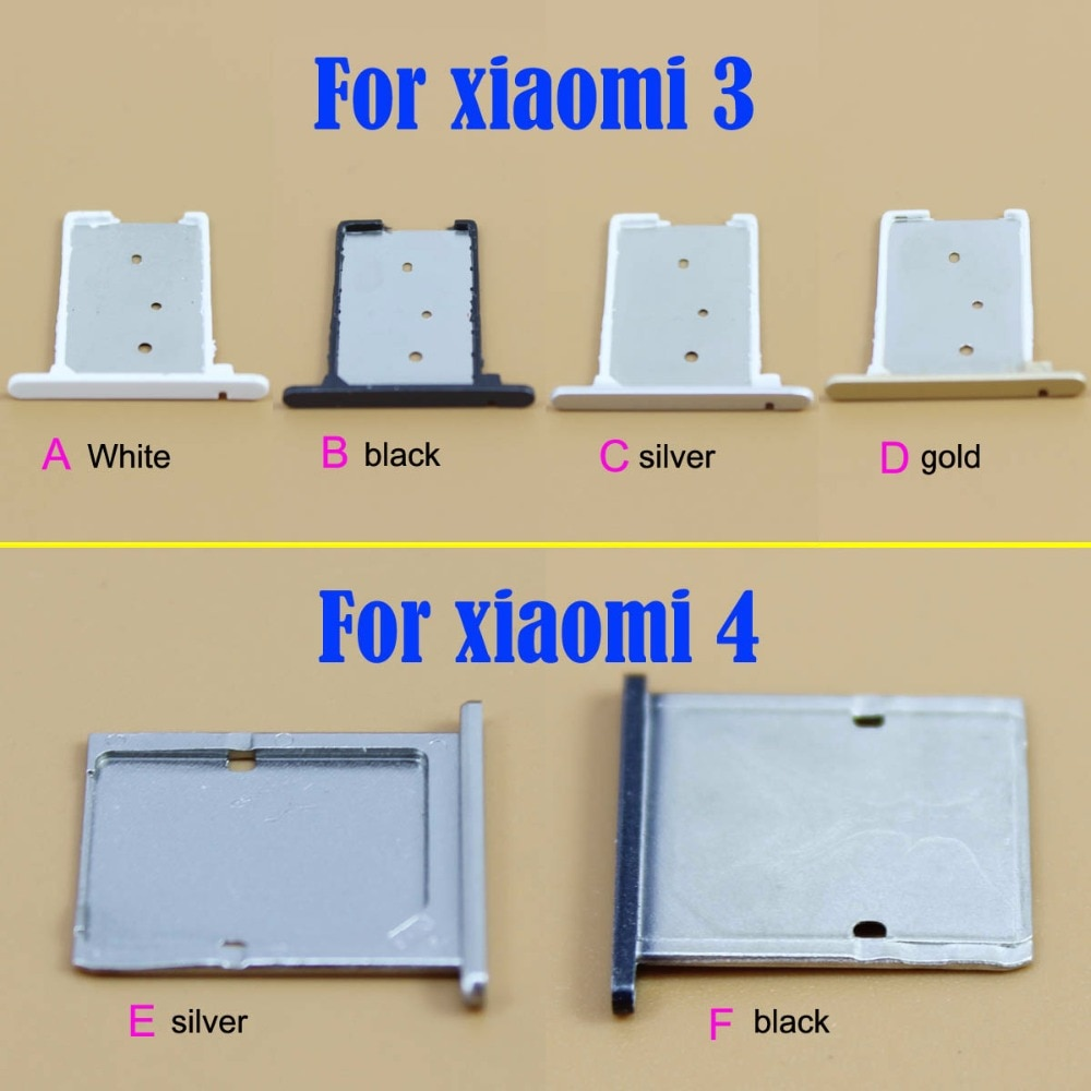 YuXi para Xiaomi Mi 3 Mi4 Dual soporte para tarjeta SIM ranura adaptador de reemplazo