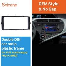 Seicane Beste Doppel 2 Din Autoradio Fascia für 2012 Toyota Aqua Prius C RHD Audio Player Dash Kit Trim Installieren Rahmen