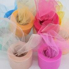 Разноцветная блестящая Тюлевая юбка-пачка из органзы для девочек в рулоне с кристаллами, размер 22 м подарок для свадебной вечеринки декор для детского душа