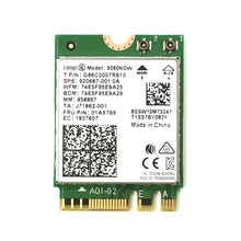 Double bande sans fil-AC 9260 pour Intel 9260NGW NGFF 802.11ac MU-MIMO 1730Mbps 1.73Gbps WiFi + Bluetooth 5.0 carte adaptée à Windows 10