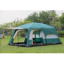 Extérieur nouveau grand espace camping sortie deux chambres tente ultra-grande tente de camping étanche de haute qualité