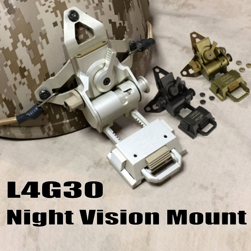 Airsoft Tactical L4G30 Helmet NVG Mount Aluminum Hunting Paintball Accessories Night Vision Goggles Helmet NVG Mount