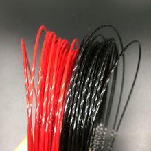 1 pc ZARSIA High quality Hexaspin twister polyester tennis string 1.23mm tennis rackets string (black/red)