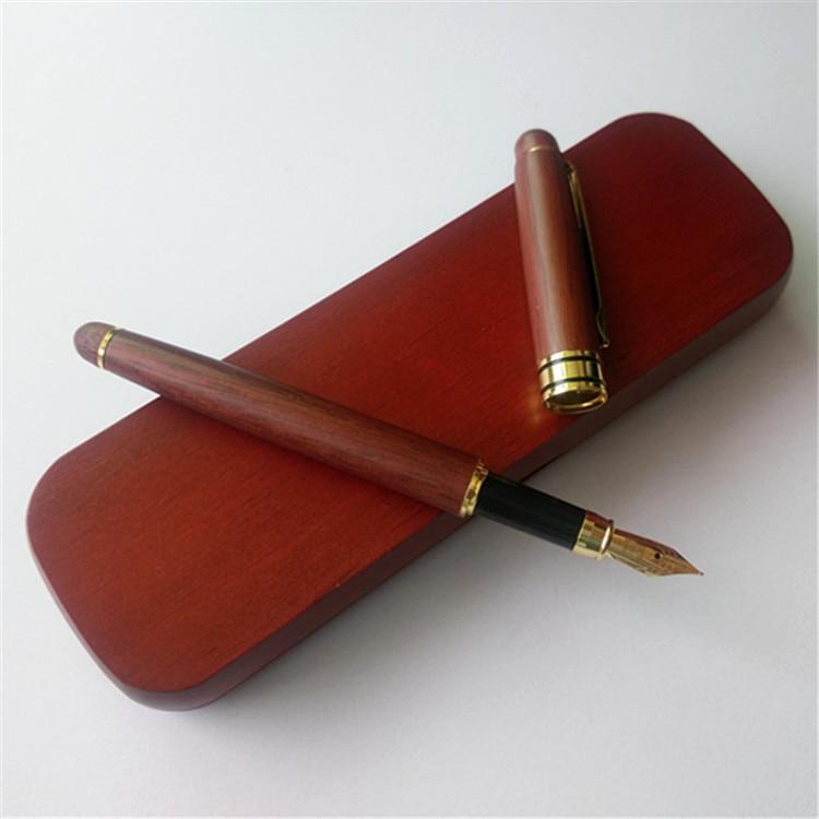 Gran oferta, bolígrafo de bambú de lujo, tinta de 0,5mm, marca para regalos de negocios, decoración, escritura, oficina, bolígrafo, papelería 8704