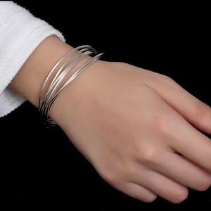 Jinwater S925 sterling silver multi-loop ring retro Korean simple ladies explosion bracelet