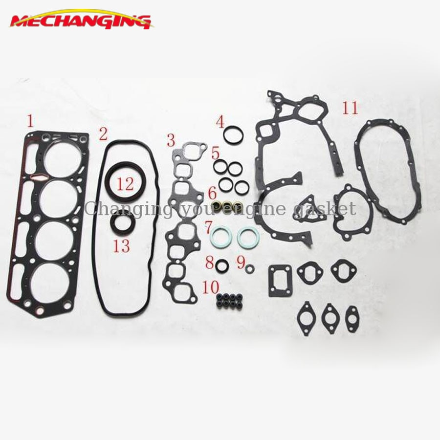 1Y 2Y 3Y для DAIHATSU ROCKY Soft Top 2,0 Полный комплект деталей двигателя автомобильные запчасти прокладка двигателя 04111-73029 50098600