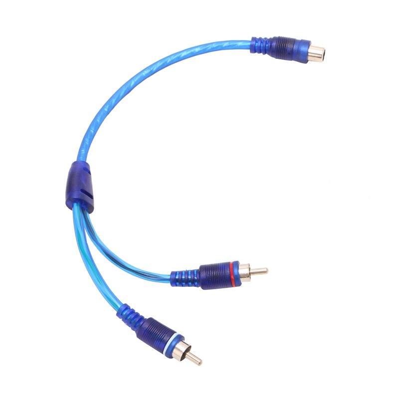1 rca macho para 2 fêmea divisor estéreo áudio y adaptador cabo fio conector novo sep4