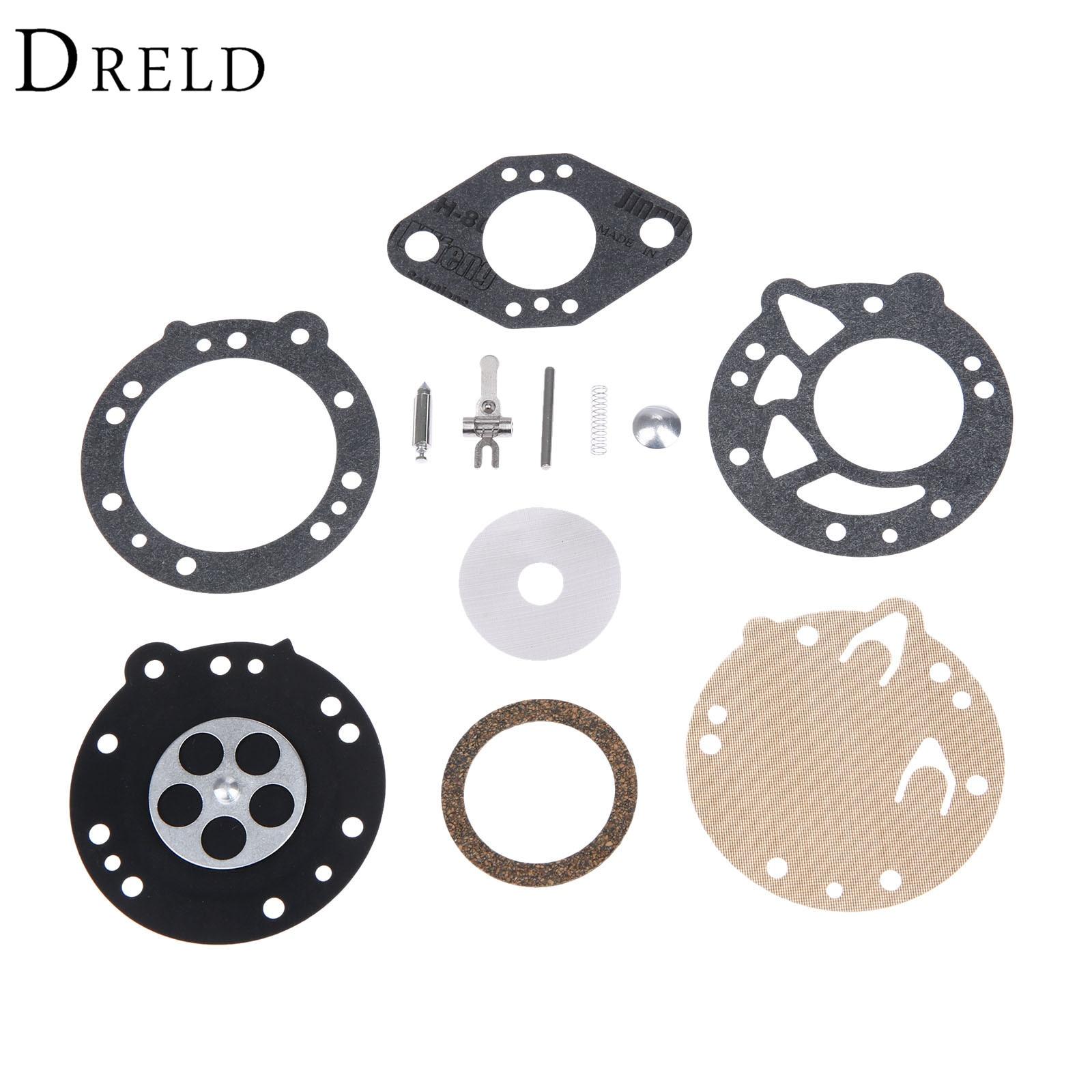 Kit de diafragma para la reconstrucción de carburador DRELD para STIHL 08 08S 070 090, motosierra TS350 TS360 TILLOTSON RK-83HL, reemplaza a Zama RB-42
