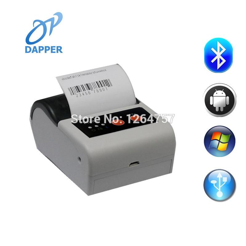 Impresora portátil de etiquetas de recibos de 58mm android micro bluetooth