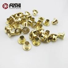Chicken Copper Bearing 2.5*5 3*5 4*5 Miniature Flange Corns Bearings Metal Sleeve / Diy Rivet Washer / Model Buttons