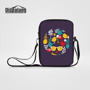 Dispalang Women Men Mini Messenger Bags Cartoon Cat Printed Crossbody Bag Children Shoulder Bags Ladies Small Female Handbags