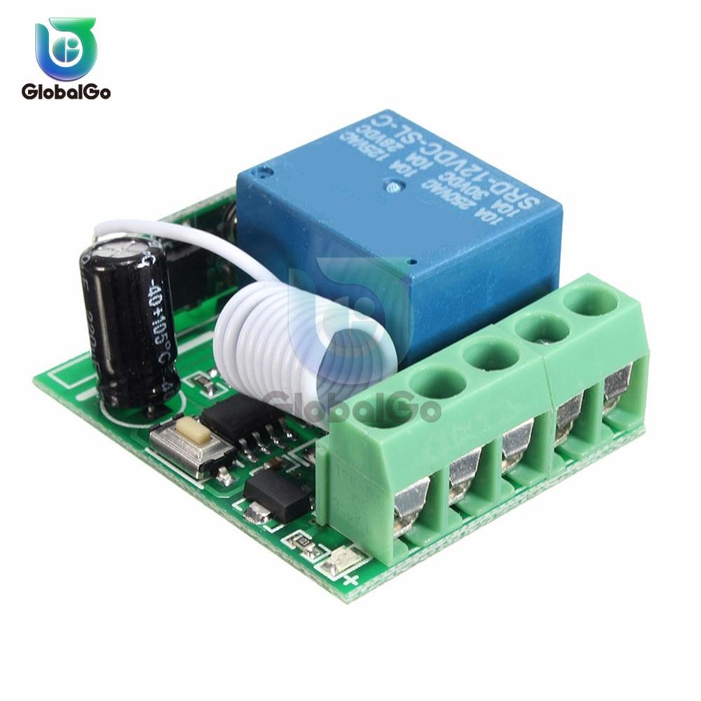 1 Módulo de canal de relé 12V, 315MHz, 433MHz, inalámbrico cc 12V, 1 vía, tarjeta de expansión de relés, interruptor de Control remoto