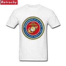Hommes USMC T-shirt sceau des états-unis Marine Corps pas cher T-shirt personnalisé T-shirt pour hommes à manches courtes 3XL vêtements