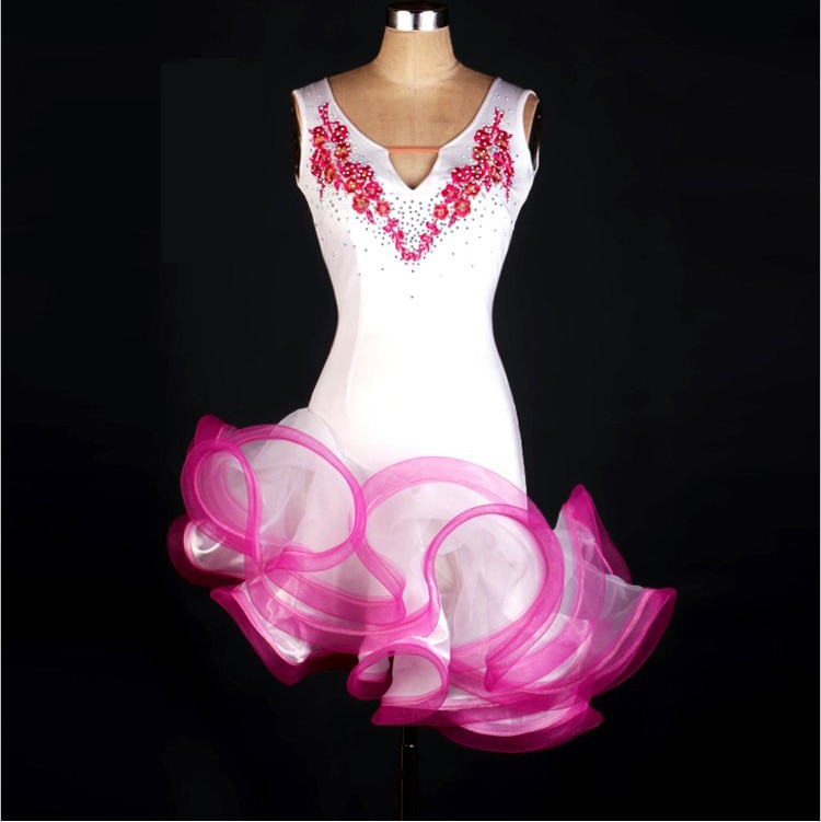 Falda de baile latino para mujeres/niñas ropa Infantil femenina Cha Rumba Samba trajes de baile de competencia Latino