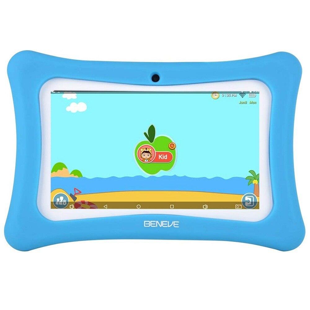 Rusia España almacén envío niños Tablet 7 pulgadas Tablet PC Android 7,1 1GB RAM 8GB ROM WiFi Bluetooth software para niños preinstalado