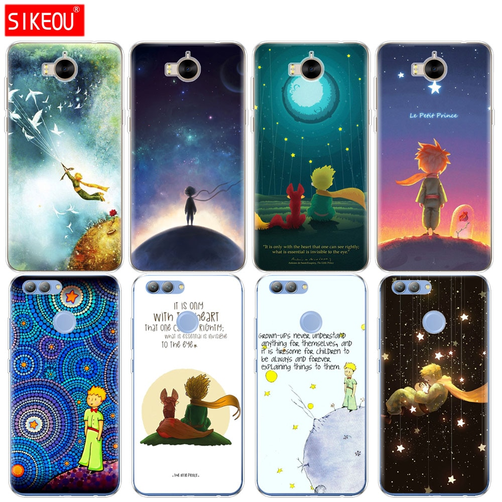 De silicona caso de la cubierta del teléfono para huawei Y3 Y6 Y5 2 II 2017 nova 2s 2 LITE más el Pequeño Príncipe