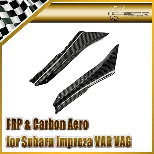 Auto-styling Für Impreza VAG VAB USDM Typ Carbon Fiber APRIL Frontschürze Canard Glänzend Fibre Finish Körper Kit zubehör Trim