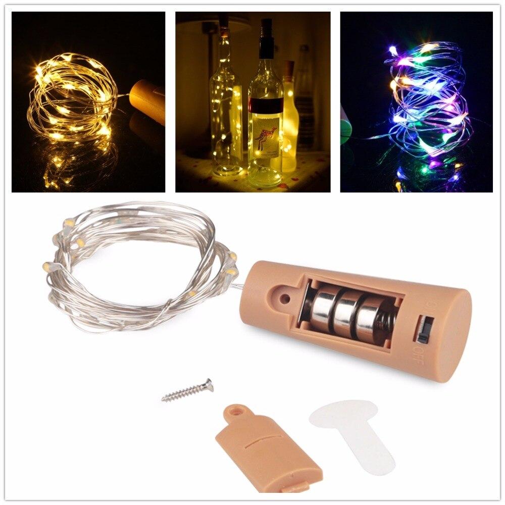 Lumières décoratives à la maison 1M 2M Corker fil de cuivre guirlande lumineuse noël fée lumières pour verre artisanat bouteille décoration