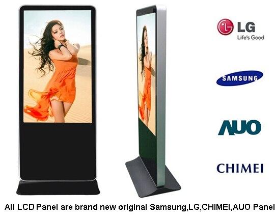 22 84 98 pulgadas panel lcd led pantalla TFT tv monitor hd wifi 3g 4g basado en la web de la red de publicidad digital kiosk software de gestión