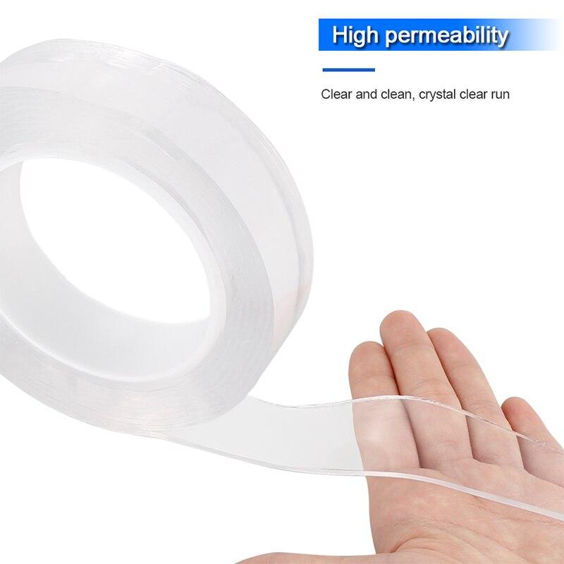 Herramientas de almacenamiento para el hogar, cinta Nano adhesiva de doble cara multifuncional, cintas extraíbles lavables sin rastro, etiqueta adhesiva de agarre de Gel para interiores