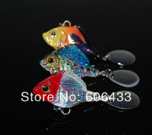 10 قطعة الصيد الأسماك المعادن VIB إغراء أسماك باس Crankbaits معالجة هوك 3 سنتيمتر 15g شحن مجاني