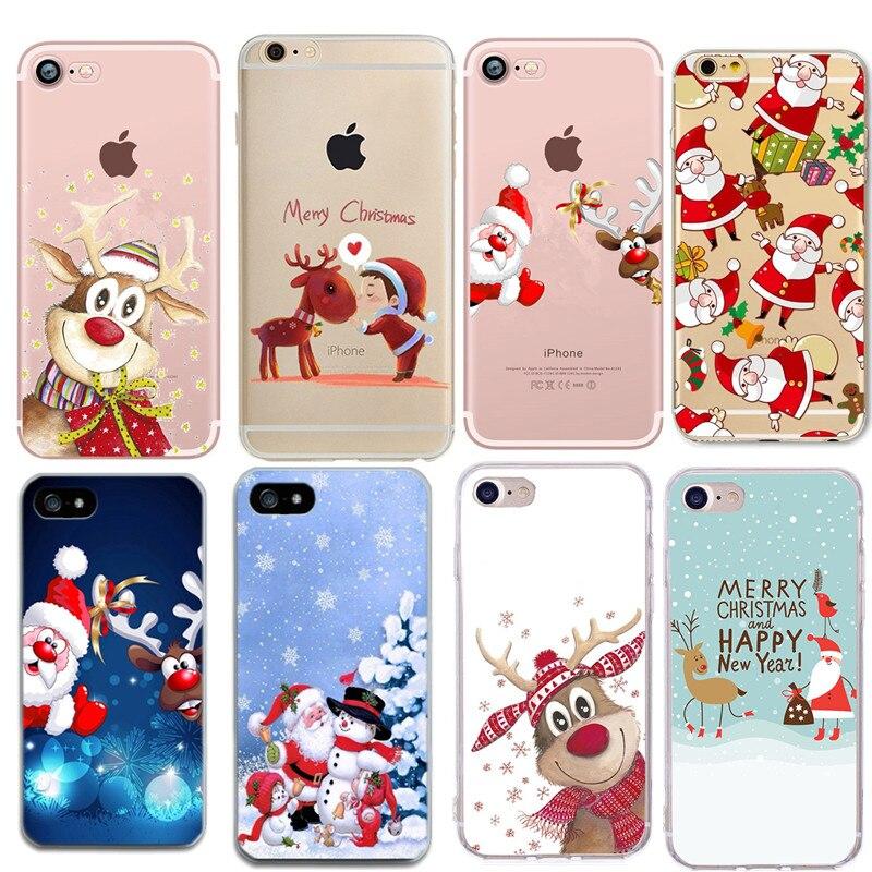 Bonito natal veados macio tpu silicone casos para iphone 5 s se x caso de telefone para iphone 6s 6 7 8 plus xs max xr coque fundas