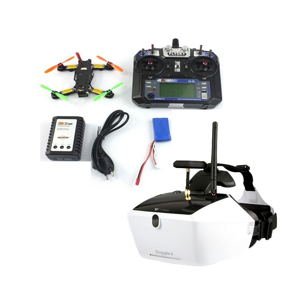 5,8G 40CH FPV 2,4G 6CH RC Mini Racer Quadcopter Drone Tarot 130 RTF conjunto completo TL130H1 Walkera gafas 4 520TVL Cámara F17840-F