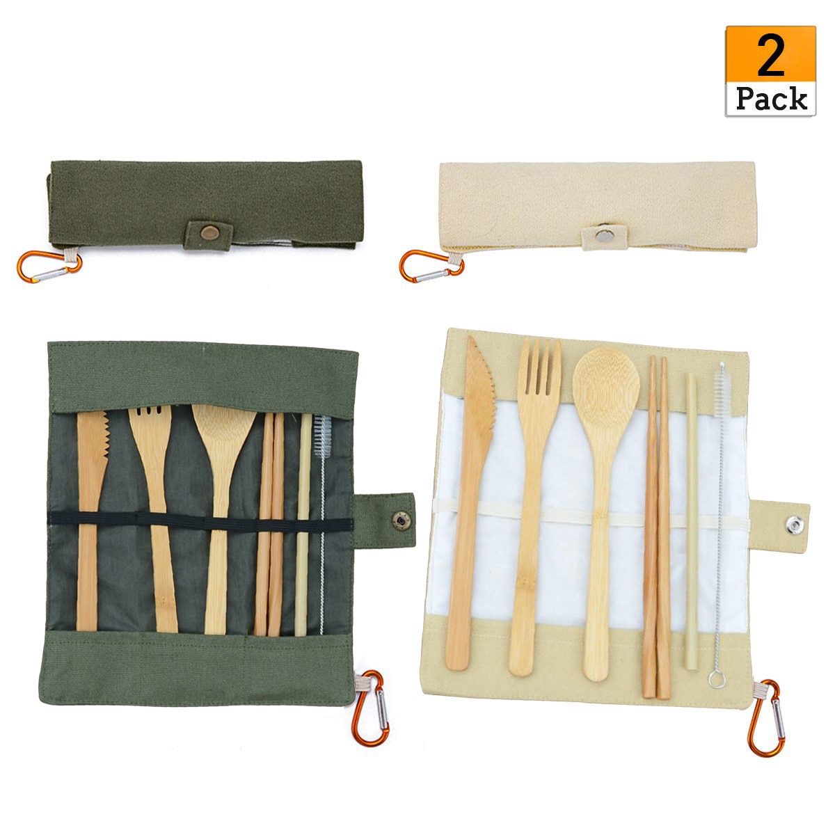 1/2 шт. 6 наборов японских набор деревянных столовых приборов бамбуковый нож вилка с тканевым мешком кухонные инструменты для пикника на откр...