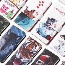 Чехол-бумажник с рисунком енота для Highscreen Power Ice Evo, 5,0 дюйма, Модный чехол из искусственной кожи для мобильного телефона, защитный чехол