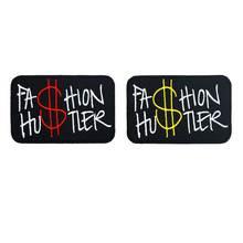 Mode hutler naam tag grappige punk rock geborduurde biker motorfiets patches voor vest hoed jeans