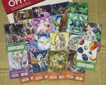 20 adet yu-gi-oh! Kristal hayvanlar Anime tarzı kartları yakut Carbuncle zümrüt kaplumbağa safir Pegasus GX çift bağlantıları Orica kağıt kartı
